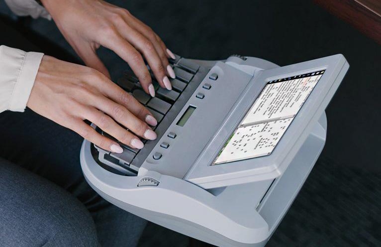 stenographer at work