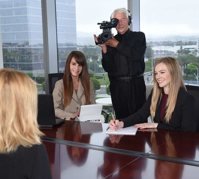 Elite Court Reporters and videographer